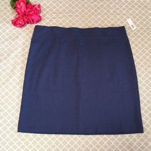 Old Navy Blue Ponte Knit Pencil Skirt XL NWT